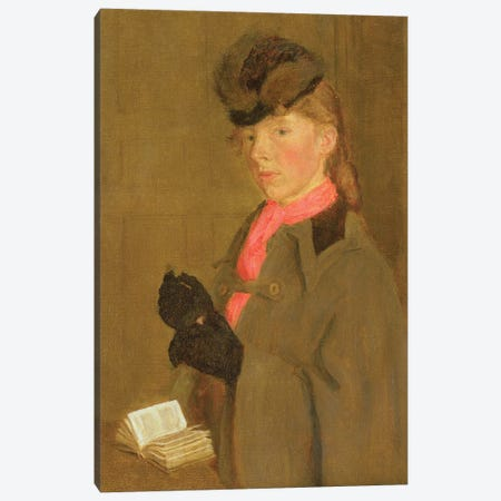 Portrait Of The Artist's Sister, Winifred 3-Piece Canvas #BMN7943} by Gwen John Canvas Print