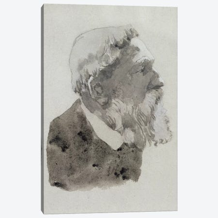 Portrait Study Of August Rodin 3-Piece Canvas #BMN7944} by Gwen John Canvas Art