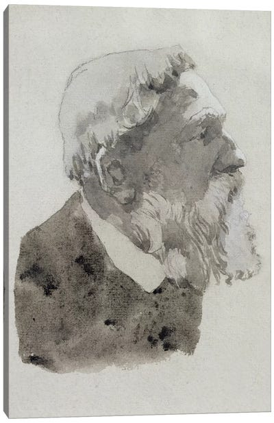 Portrait Study Of August Rodin Canvas Art Print