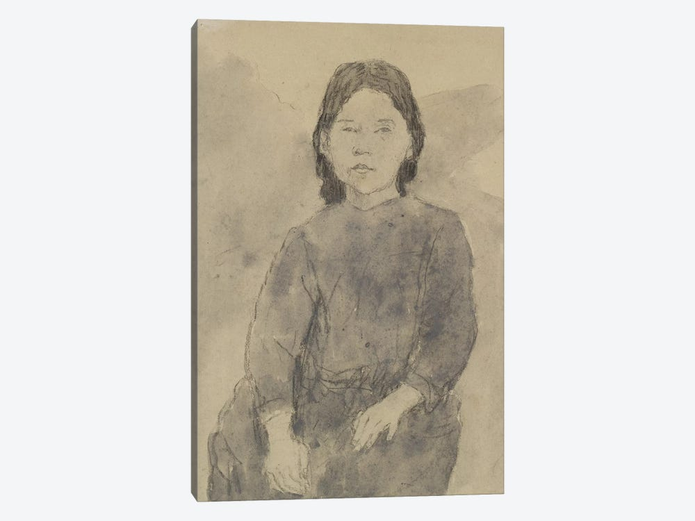 Seated Girl (Marie Hamonet?) by Gwen John 1-piece Canvas Wall Art
