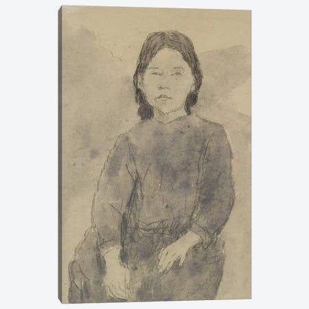 Seated Girl (Marie Hamonet?) 3-Piece Canvas #BMN7945} by Gwen John Canvas Wall Art