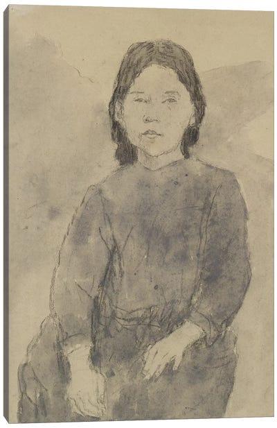 Seated Girl (Marie Hamonet?) Canvas Art Print