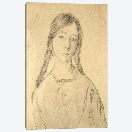 Self Portrait 3-Piece Canvas #BMN7946} by Gwen John Canvas Artwork