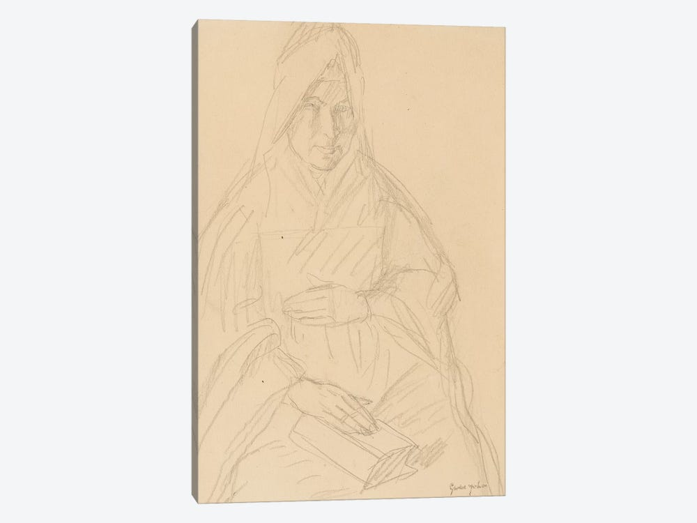 Study For 'Mere Poussepin Seated At A Table', c.1915 by Gwen John 1-piece Canvas Wall Art