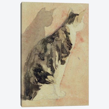 Study Of A Cat I Canvas Print #BMN7950} by Gwen John Canvas Wall Art