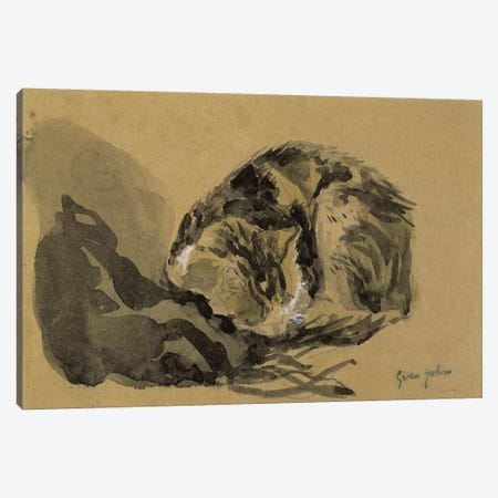 Study Of A Cat II Canvas Print #BMN7951} by Gwen John Canvas Wall Art