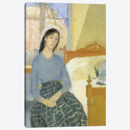The Artist In Her Room In Paris Canvas Print #BMN7953} by Gwen John Canvas Wall Art