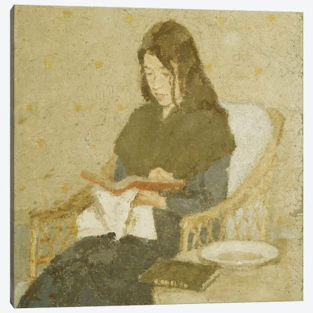The Seated Woman, 1919-1926 3-Piece Canvas #BMN7958} by Gwen John Canvas Wall Art