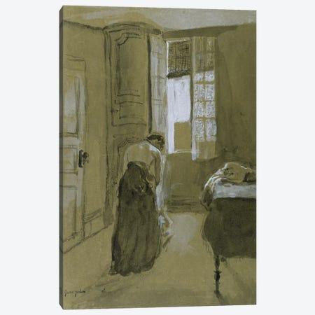 Woman Dressing, c.1907 3-Piece Canvas #BMN7960} by Gwen John Canvas Print
