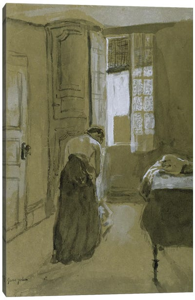 Woman Dressing, c.1907 Canvas Art Print