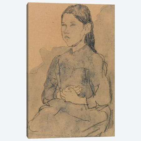 Young Girl: Marie Hamonet, c.1918 Canvas Print #BMN7962} by Gwen John Canvas Art Print
