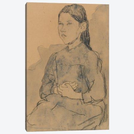 Young Girl: Marie Hamonet, c.1918 3-Piece Canvas #BMN7962} by Gwen John Canvas Art Print