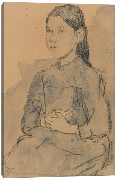 Young Girl: Marie Hamonet, c.1918 Canvas Art Print