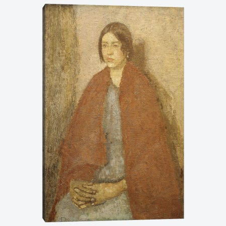 Young Woman In A Red Shawl, Canvas Print #BMN7963} by Gwen John Canvas Print