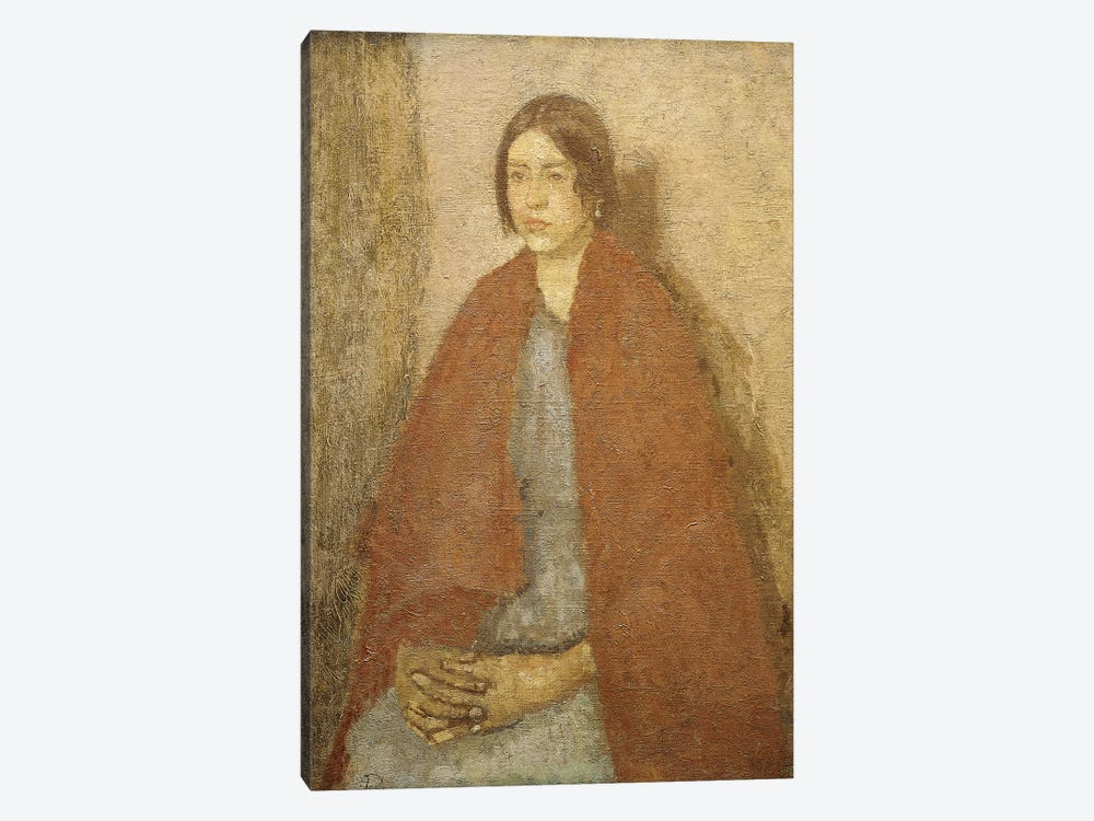 Young Woman In A Red Shawl, by Gwen John 1-piece Canvas Wall Art