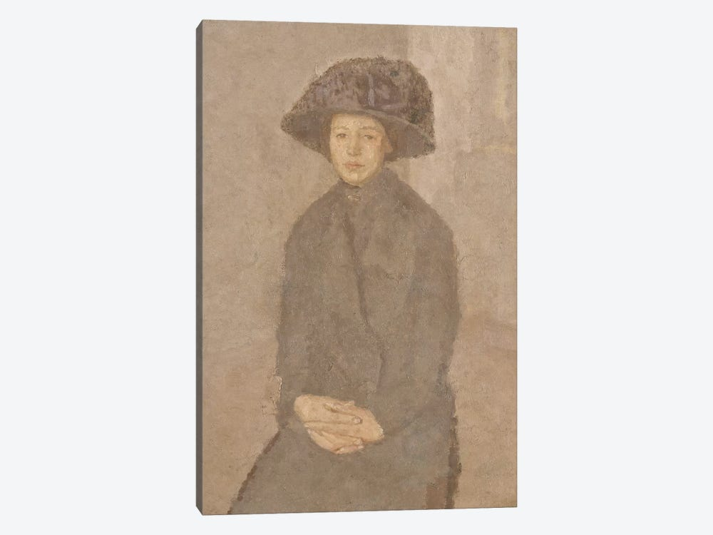 Young Woman Wearing A Large Hat, c.1917-25 by Gwen John 1-piece Canvas Art Print