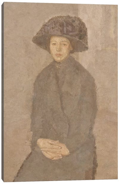Young Woman Wearing A Large Hat, c.1917-25 Canvas Art Print