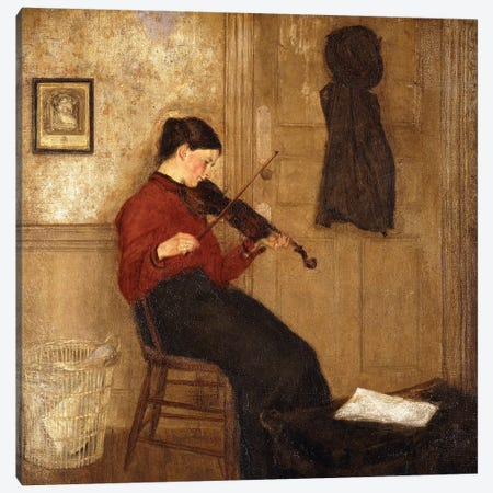 Young Woman With A Violin, 1897-98 Canvas Print #BMN7965} by Gwen John Canvas Art