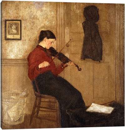 Young Woman With A Violin, 1897-98 Canvas Art Print