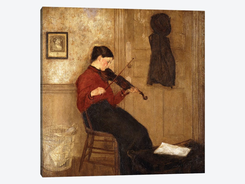 Young Woman With A Violin, 1897-98 by Gwen John 1-piece Canvas Wall Art