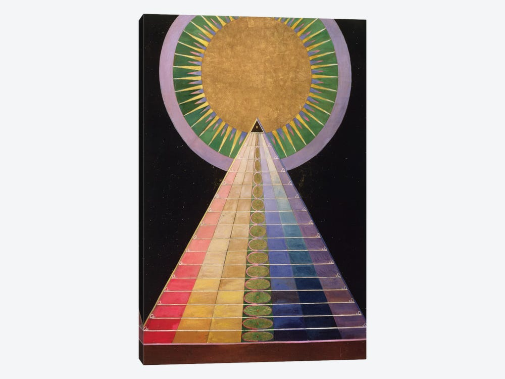 Untitled No. 1 From A Series Of Altar Paintings, 1915 by Hilma af Klint 1-piece Canvas Print