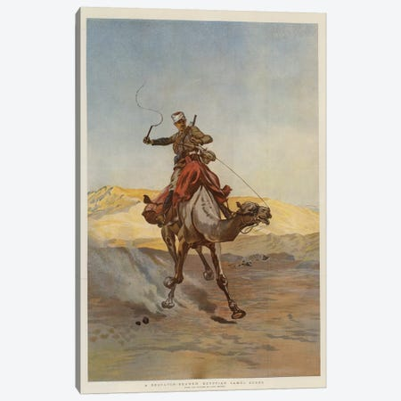 A Despatch-Bearer Egyptian Camel Corps Canvas Print #BMN7968} by Lady Butler Canvas Print