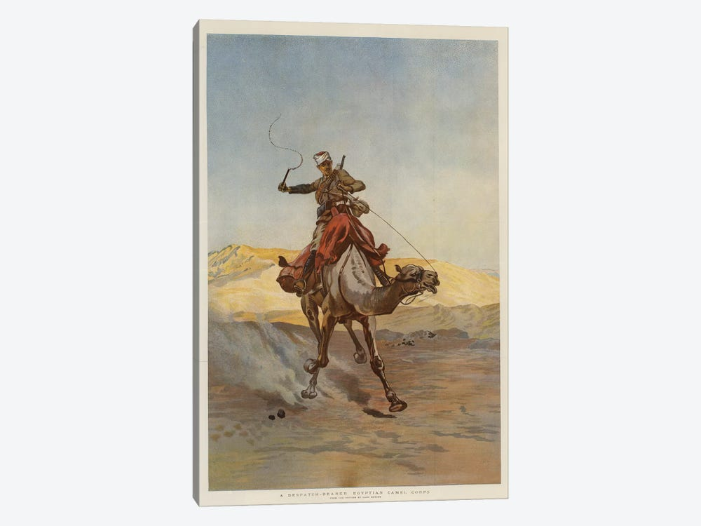 A Despatch-Bearer Egyptian Camel Corps by Lady Butler 1-piece Canvas Art Print