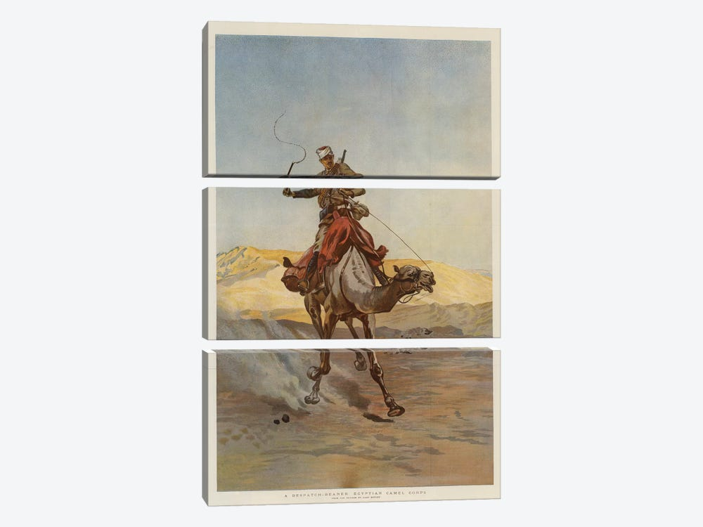 A Despatch-Bearer Egyptian Camel Corps by Lady Butler 3-piece Canvas Art Print
