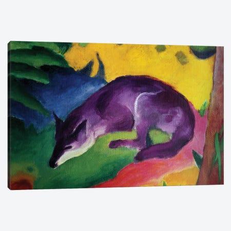 Blue Fox, 1911  3-Piece Canvas #BMN796} by Franz Marc Canvas Print