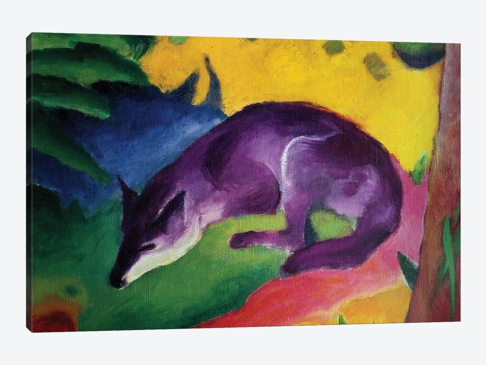 Blue Fox, 1911  by Franz Marc 1-piece Canvas Print