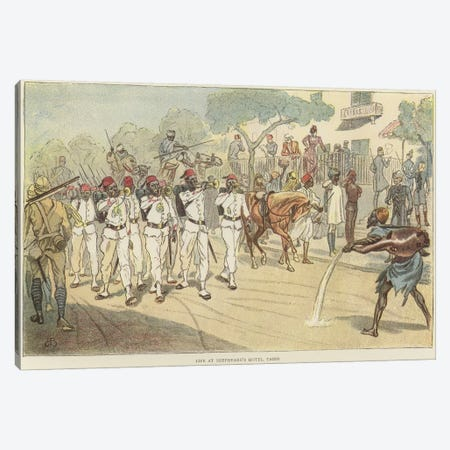 Life At Shepheard's Hotel Canvas Print #BMN7972} by Lady Butler Canvas Artwork