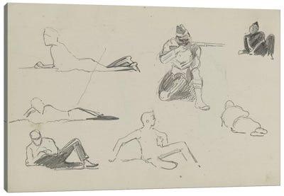 Possible Studies For 'Dawn Of Waterloo', 1893 Canvas Art Print