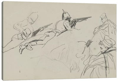 Possible Study For 'Dawn Of Waterloo', 1893 Canvas Art Print