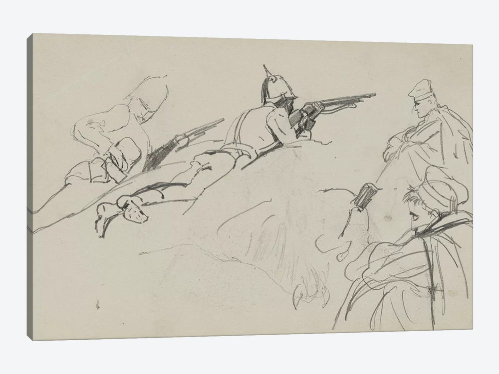 Possible Study For 'Dawn Of Waterloo', 1893 by Lady Butler 1-piece Canvas Art Print