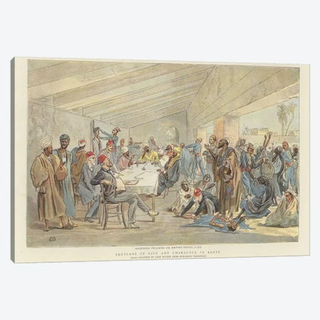 Registering Fellaheen For Military Service Canvas Print #BMN7977} by Lady Butler Canvas Print
