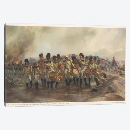 Steady The Drums And Fifes, 1811 3-Piece Canvas #BMN7980} by Lady Butler Canvas Print