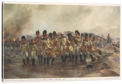 Steady The Drums And Fifes, 1811 Canvas Art Print