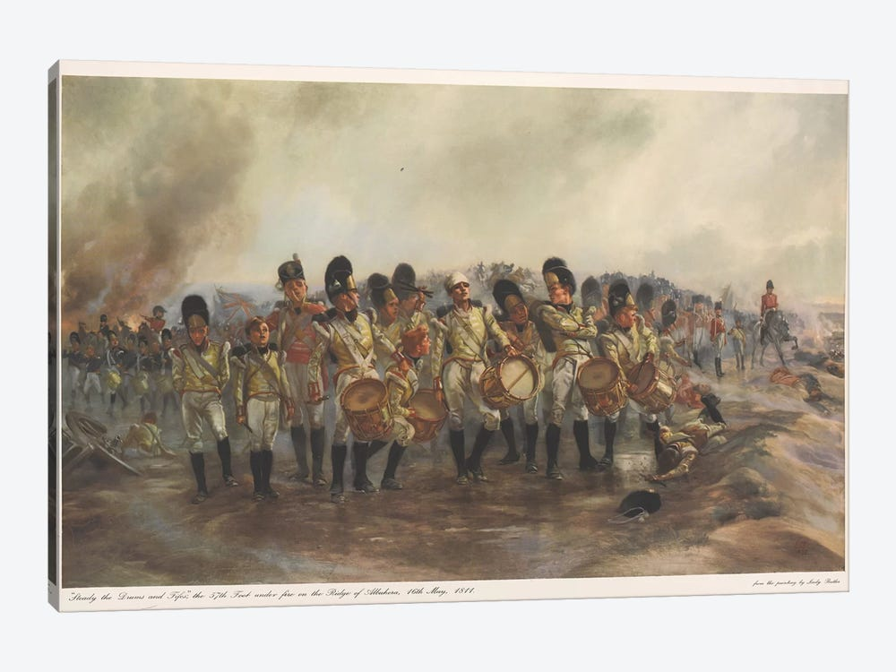 Steady The Drums And Fifes, 1811 by Lady Butler 1-piece Canvas Art Print