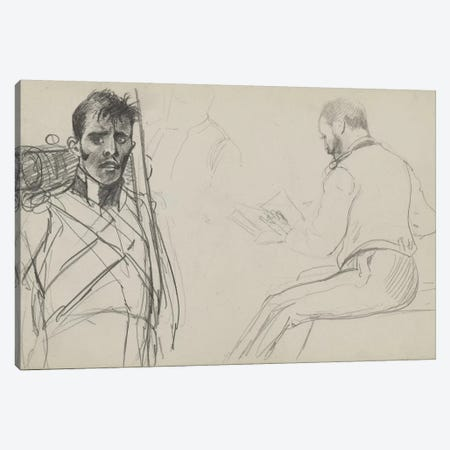 Study For 'Dawn Of Waterloo', 1893 I Canvas Print #BMN7981} by Lady Butler Canvas Art Print