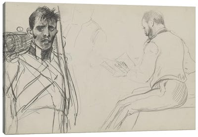 Study For 'Dawn Of Waterloo', 1893 I Canvas Art Print