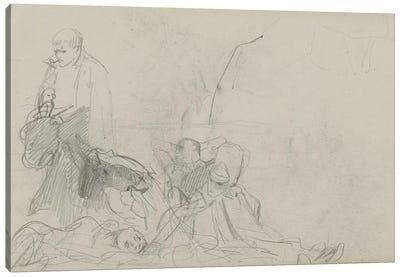 Study For 'Dawn Of Waterloo', 1893 II Canvas Art Print