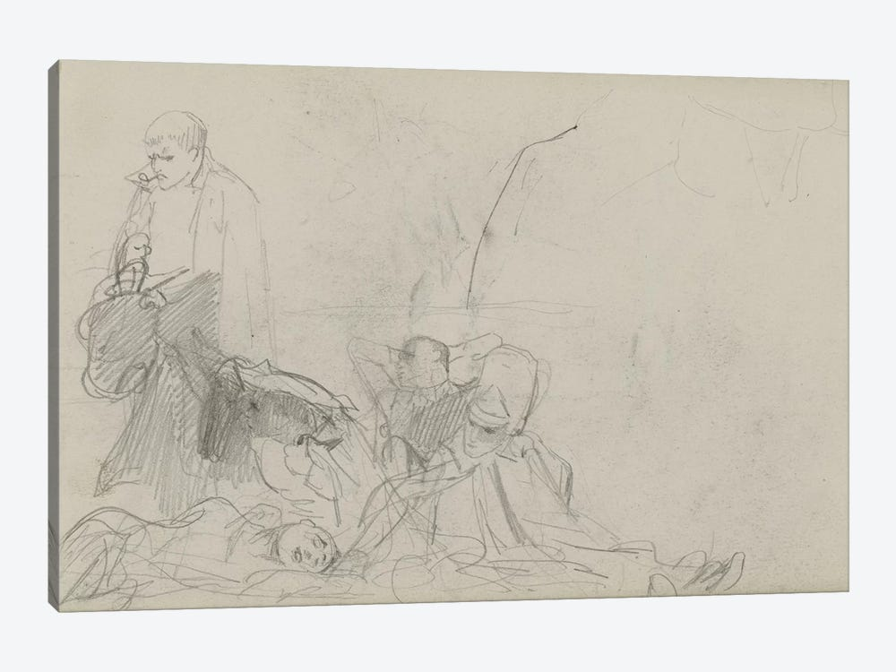 Study For 'Dawn Of Waterloo', 1893 II by Lady Butler 1-piece Canvas Print