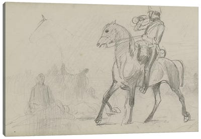 Study For 'Dawn Of Waterloo', 1893 III Canvas Art Print