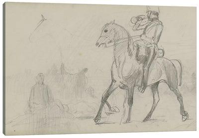 Study For 'Dawn Of Waterloo', 1893 III Canvas Art Print