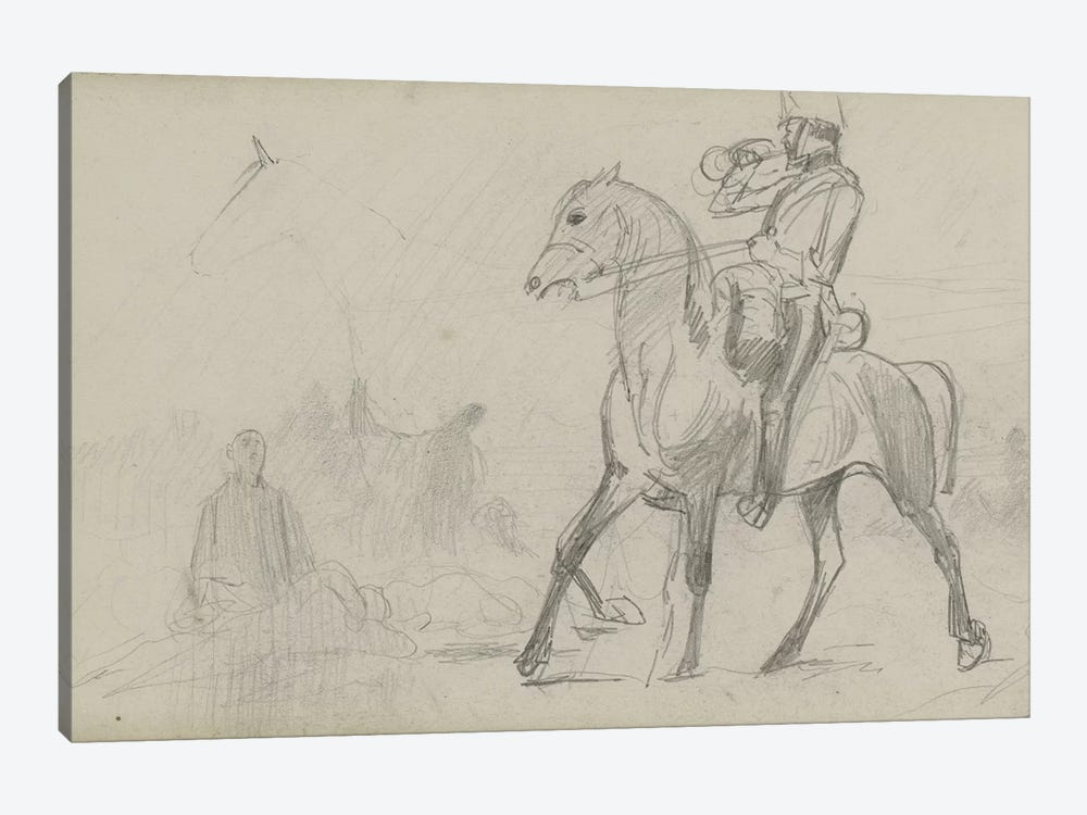 Study For 'Dawn Of Waterloo', 1893 III by Lady Butler 1-piece Canvas Wall Art