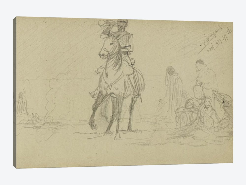 Study For 'Dawn Of Waterloo', 1893 IV by Lady Butler 1-piece Canvas Print