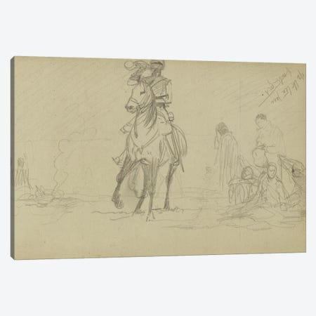 Study For 'Dawn Of Waterloo', 1893 IV 3-Piece Canvas #BMN7984} by Lady Butler Canvas Art