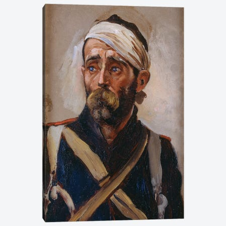 Study Of A Wounded Guardsman, Crimea, c.1874 Canvas Print #BMN7985} by Lady Butler Canvas Wall Art