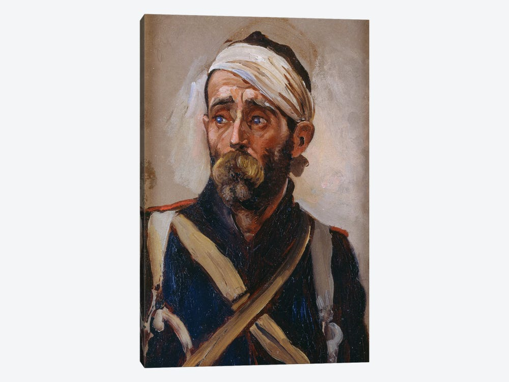 Study Of A Wounded Guardsman, Crimea, c.1874 by Lady Butler 1-piece Canvas Artwork