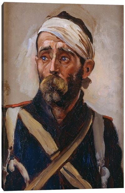 Study Of A Wounded Guardsman, Crimea, c.1874 Canvas Art Print